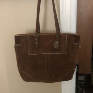 Suede Coach bag